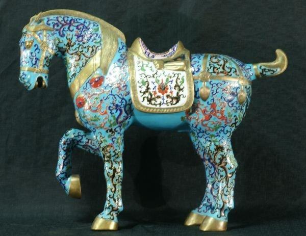 102: CLOISONNE HORSE
