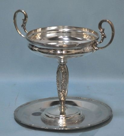 15: VINTAGE SILVERPLATED NEOCLASSICAL COMPOTE