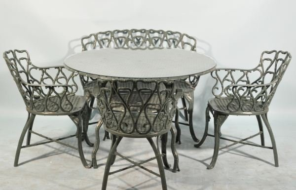 1: FIVE-PIECE NEOCLASSICAL STYLE PATIO SET