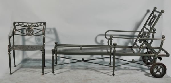 2: TWO-PIECES OF NEOCLASSICAL STYLE PATIO FURNITURE