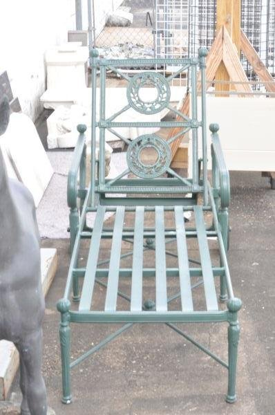 3: PAIR OF NEOCLASSICAL STYLE PATIO CHAISES
