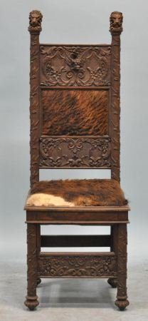 18: EARLY 19th CENTURY GOTHIC STYLE OAK CHAIR