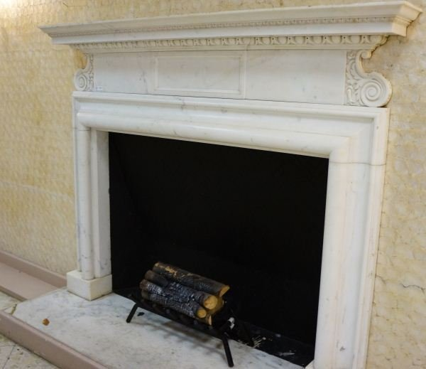 280: CUT MARBLE FIREPLACE MANTEL BY ADAMS