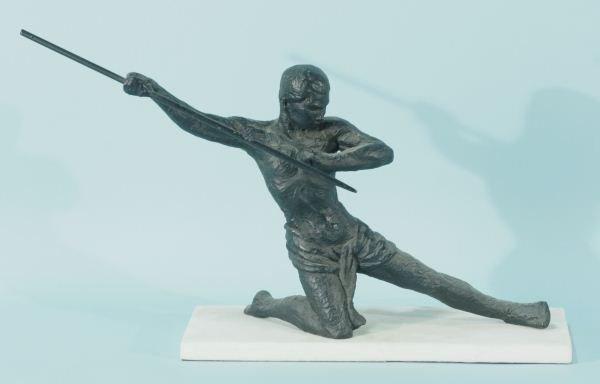 1920's ART DECO BRONZE SPEAR THROWER