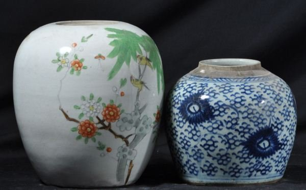 TWO ANTIQUE CHINESE PORCELAIN VASES