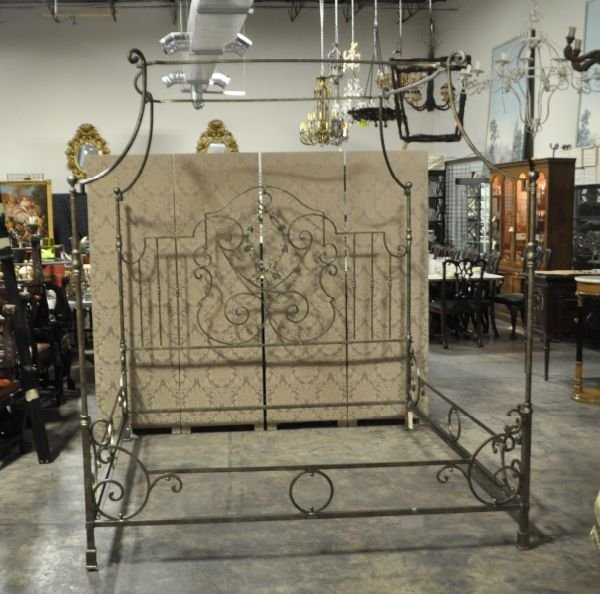 Designer Wrought Iron Canopy Four Poster King Size