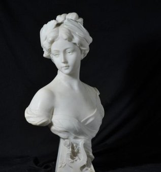 FRENCH 1880 MARBLE BUST OF A WOMEN