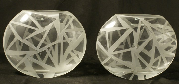 LOT OF TWO ART GLASS VASES