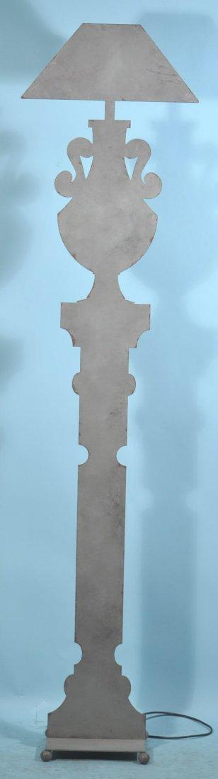 GREY METAL SILHOUETTE FLOOR LAMP