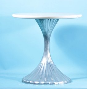 LUCAS SIDE TABLE WITH WHITE MARBLE TOP