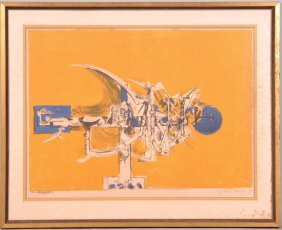 """GRAHAM SUTHERLAND """"ABSTRACT"""" LITHO #88/100"""