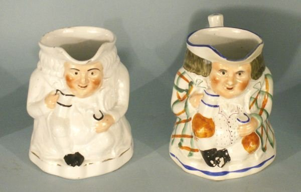 LOT OF TWO TOBY PORCELAIN MUGS
