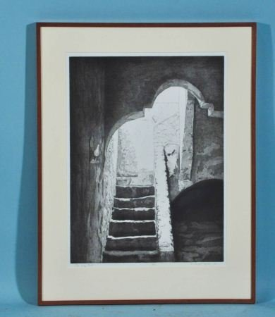 """MARY CRANFILL CURTIS """"THE WAY OUT"""" ETCHING"""