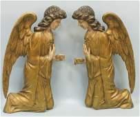 PAIR OF 18th CENTURY SPANISH ANGEL RELIEFS