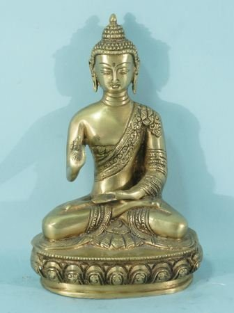 ANTIQUE GILT BRONZE SEATED BUDDHA