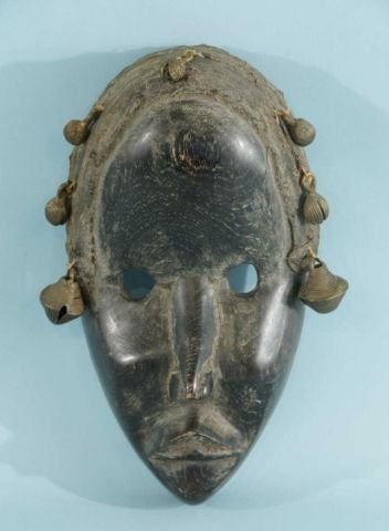 ANTIQUE TRIBAL MASK WITH BELLS