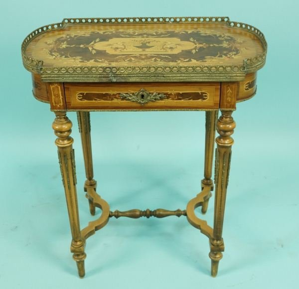 19th C. ITALIAN ROSEWOOD INLAID END TABLE