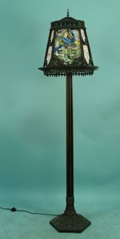 Tiffany Style Floor Lamp Slag Glass
