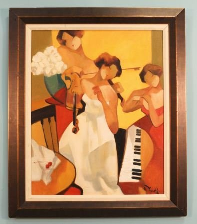"""GHOLAM YUNESSI """"BRIDAL SONG"""" ACRYLIC ON CANVAS"""