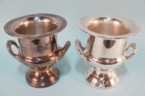 PAIR OF SILVERPLATED CHAMPAGNE BUCKETS