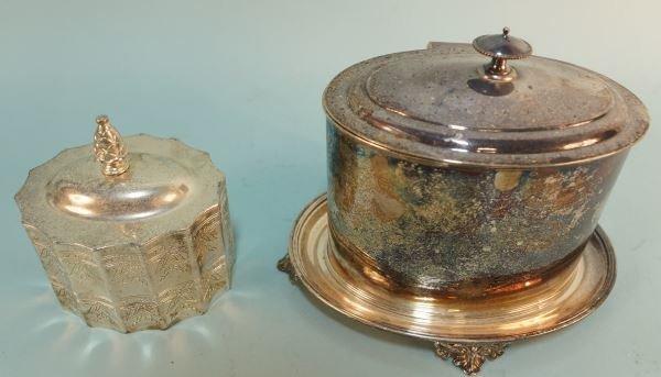 TWO SILVERPLATED TEA CADDIES