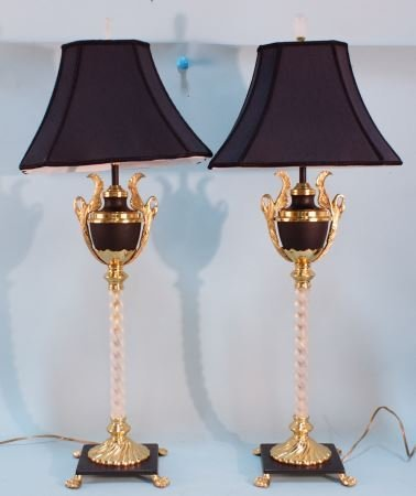 PAIR OF NEOCLASSICAL STYLE LAMPS