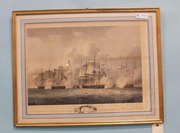 "J. WELLS ""ENGLISH & FRENCH ENGAGEMENT"" 1801 AQUATT"