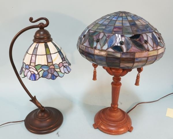 LOT OF TWO TIFFANY STYLE LAMPS