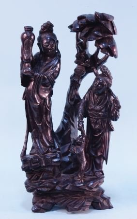ANTIQUE CHINESE CARVED WOOD SCULPTURE