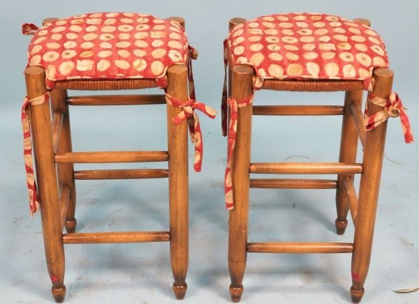 PAIR OF STOOLS BY COLLECTION REPRODUCTIONS