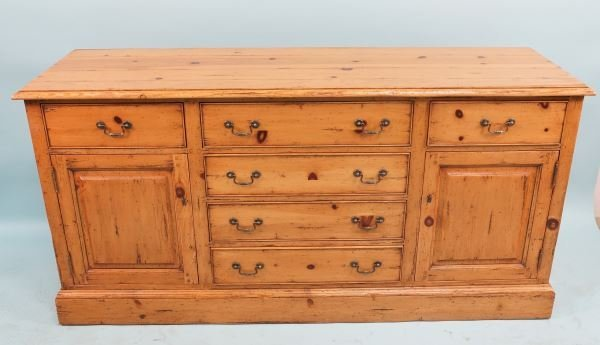 MELROSE COLLECTION KNOTTY PINE SIDEBOARD