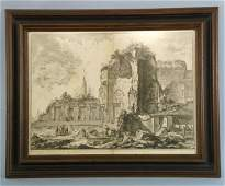 PIRANESI ENGRAVING OF A CITY IN RUINS