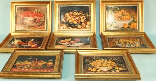 SET OF EIGHT REPRODUCTION PRINTS OF FRUIT
