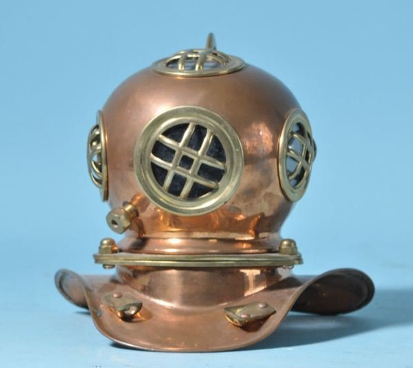 VINTAGE MINIATURE BRASS DIVING HELMET
