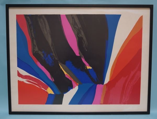 """CHARLES SHORRE """"UNTITLED ABSTRACT"""" A. P. PRINT"""