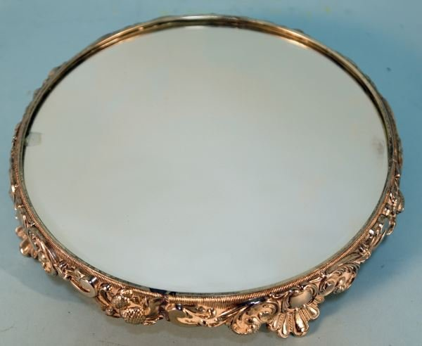 VICTORIAN SILVERPLATED MIRRORED PLATEAU