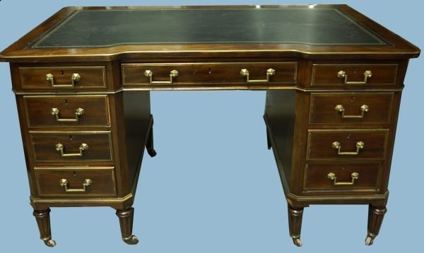 19th CENTURY LOUIS PHILIPPE ROSEWOOD DESK WITH TOOLED