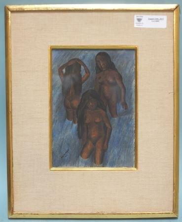 "RUFINO TAMAYO ""BATHING WOMEN"" WATERCOLOR, 1926"