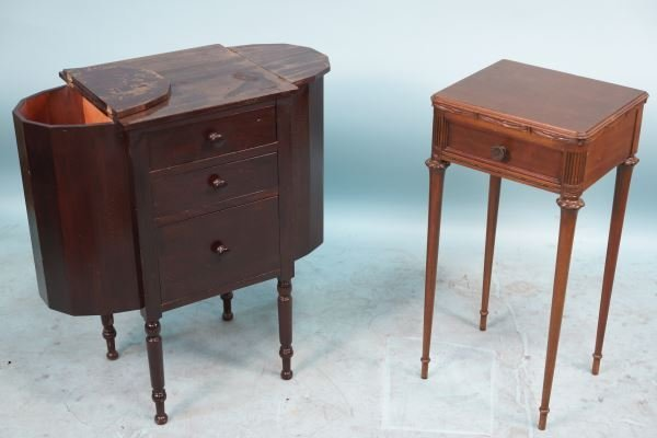 LOT OF TWO 1940's MAHOGANY WORK TABLES