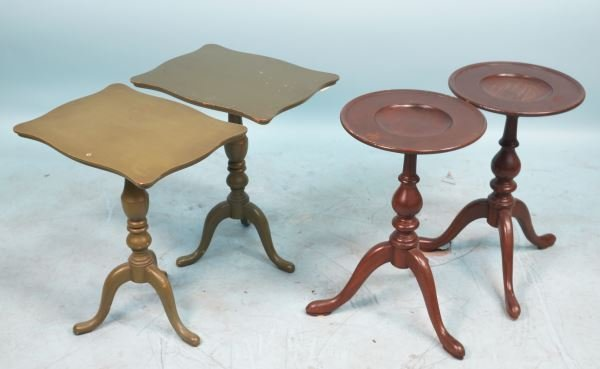 MIXED LOT OF TWO PAIR OF PEDESTAL TABLES