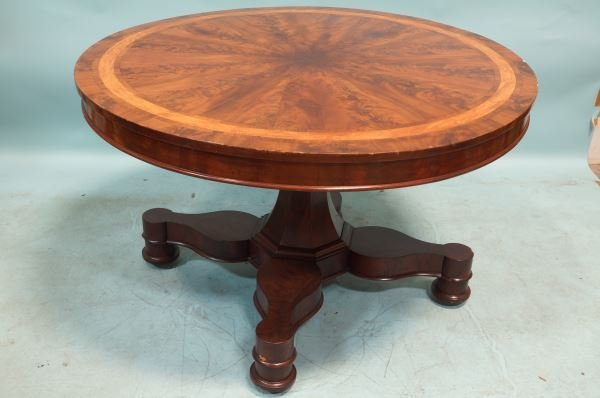 19th C. AMERICAN CLASSICAL CENTER TABLE, CIRCA 1840