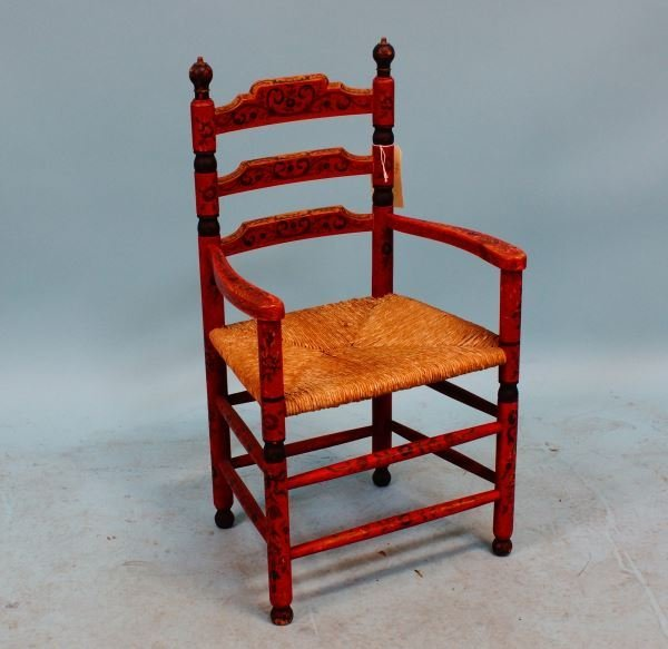 19th CENTURY AUSTRIAN/GERMAN PAINTED CHILD'S CHAIR