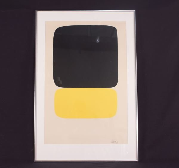 "ELLSWORTH KELLY ""BLACK OVER YELLOW"" LITHO"