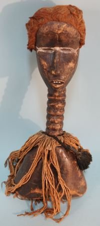 WOOD CARVED AFRICAN FEMALE SCULPTURE