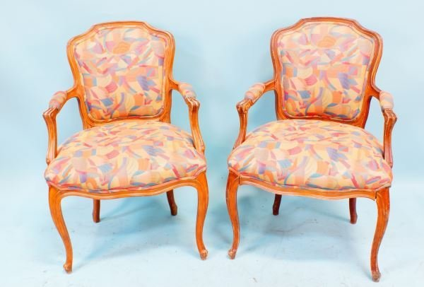 PAIR OF COUNTRY FRENCH STYLE ARMCHAIRS