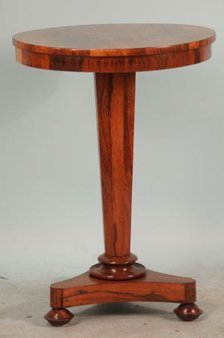 19th CENTURY EMPIRE ROSEWOOD ACCENT TABLE