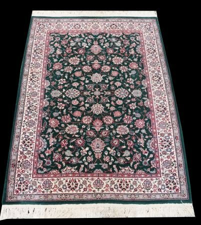 CHINESE RUG IN ROSE AND IVORY