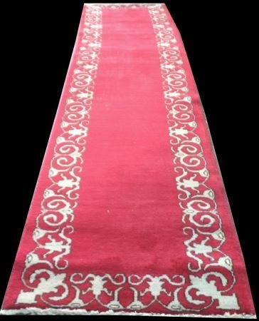 ORIENTAL RUNNER RED WITH IVORY BORDER