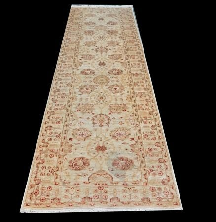 HAND KNOTTED 100% WOOL PILE PAKISTAN RUNNER
