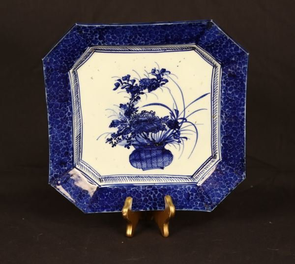 19th CENTURY JAPANESE BLUE & WHITE CHARGER